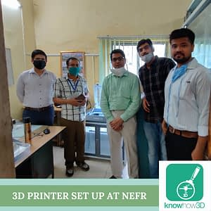 3D Printer set up at NEFR in Assam