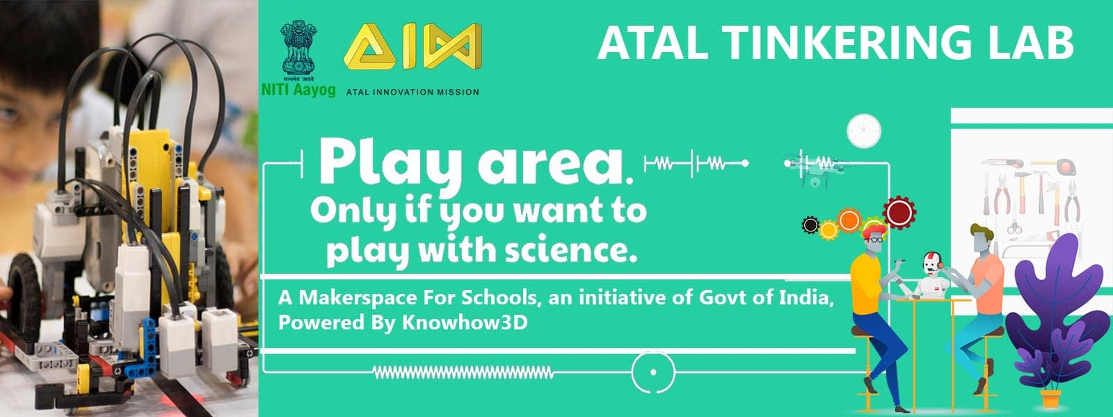 Atal Tinkering lab set up by knowhow3d