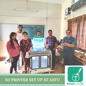 3D Printer set up at ASTU in Assam