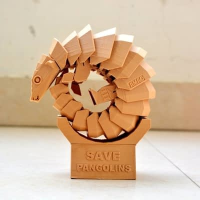 3d printed pangolin by knowhow3d