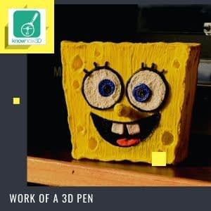 3d pen creation - sponge bob