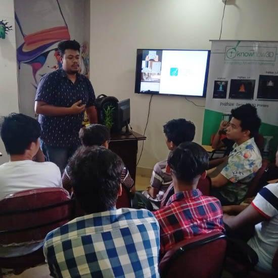 3D printing workshop in Arena Animation, Guwahati